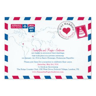 Cartão Casamento do cargo do correio aéreo da República