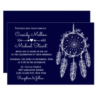Cartão Casamento do coletor do sonho de nativo americano