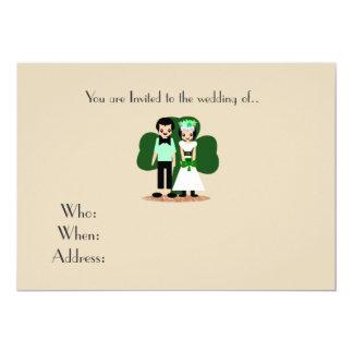 Cartão Casamento do dia de Patrick de santo
