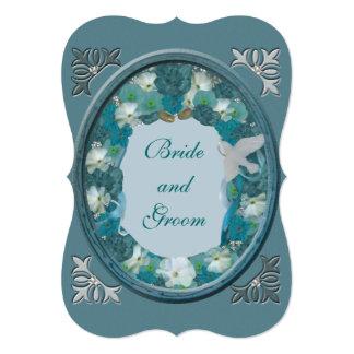 Cartão Casamento do horizonte dos azuis de Smalt