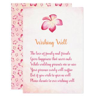 Cartão Casamento do Plumeria do por do sol que deseja