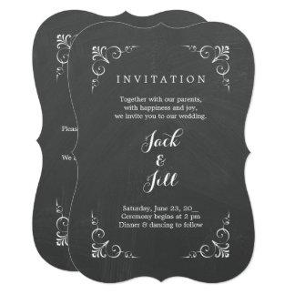 Cartão Casamento do quadro da tipografia do vintage