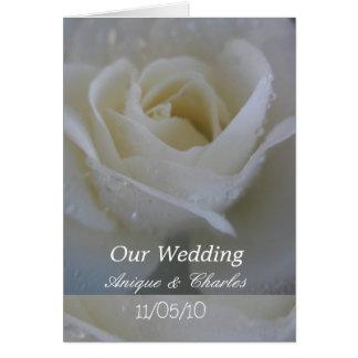 Cartão Casamento do rosa branco
