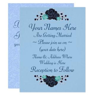 Cartão Casamento do rosa do azul