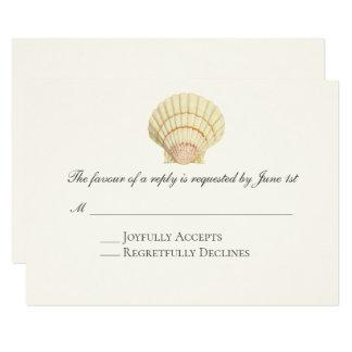 Cartão Casamento do Seashell do solteiro do Scallop do