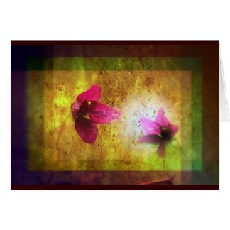 Cartão casamento do Titania; Dueto floral da baga Salmon