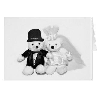 Cartão Casamento do urso de ursinho