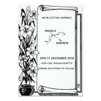 Cartão Casamento do vaso de flor