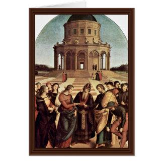 Cartão Casamento do Virgin por Raffael (a melhor
