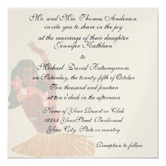 Cartão Casamento e recepção tropicais havaianos do