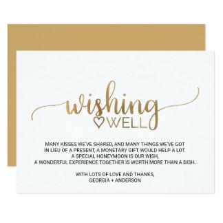 Cartão Casamento elegante da caligrafia do ouro que
