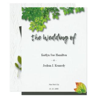 Cartão Casamento elegante do carvalho do outono