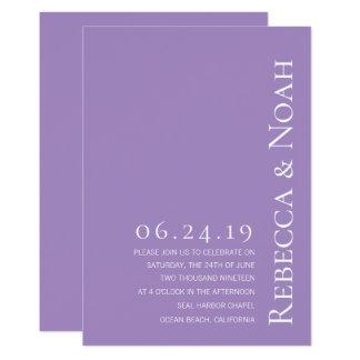 Cartão Casamento elegante minimalista simples do texto da