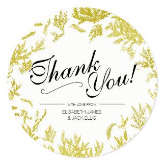 """Cartão Casamento elegante """"obrigado que do ouro você"""""""