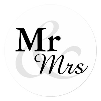 Cartão Casamento elegante simples da tipografia de Mr&Mrs