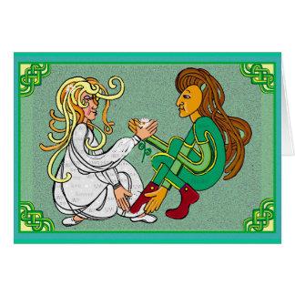 Cartão Casamento eterno do handfast do amor