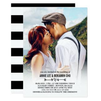 Cartão Casamento feito sob encomenda da foto do coração &