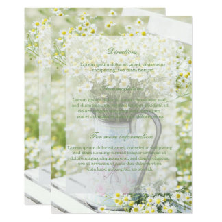Cartão Casamento floral da flor da camomila das