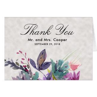 Cartão Casamento floral da pérola do prado chique do