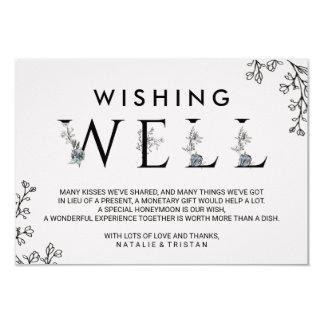 Cartão Casamento floral da tipografia que deseja bem
