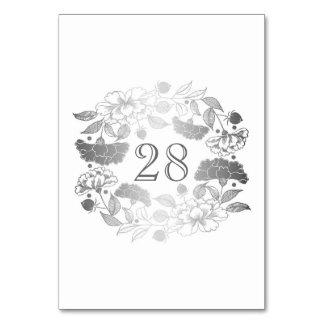 Cartão Casamento floral de prata do jardim das peônias da