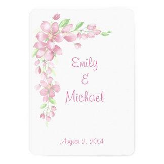 Cartão Casamento floral do país do jardim da flor de
