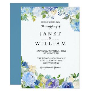 Cartão Casamento floral simples por Ozias