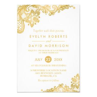 Cartão Casamento formal do teste padrão elegante do laço