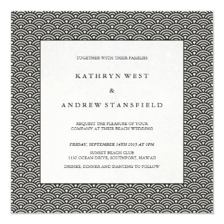 Cartão Casamento formal preto e branco chique do teste