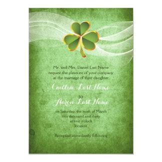 Cartão Casamento irlandês do dia de Patrick de santo do