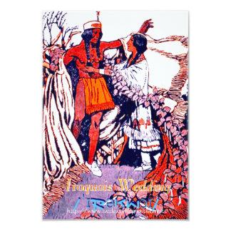 """Cartão """"Casamento Iroquois """""""
