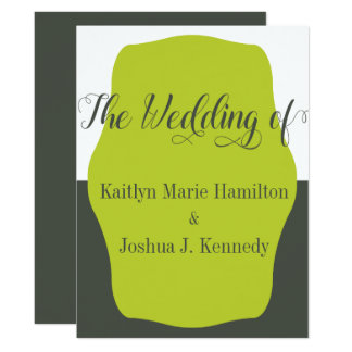 Cartão Casamento minimalista elegante do suporte morno do