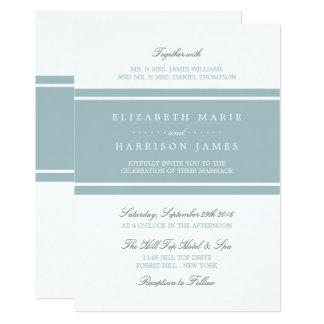 Cartão Casamento moderno azul do ovo do pato