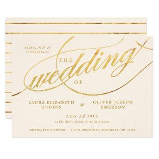 Cartão Casamento moderno original do roteiro de Champagne