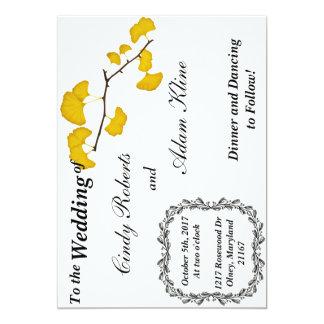 Cartão Casamento outono