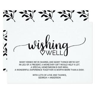 Cartão Casamento preto e branco da caligrafia que deseja