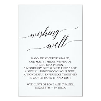 Cartão Casamento preto elegante da caligrafia que deseja