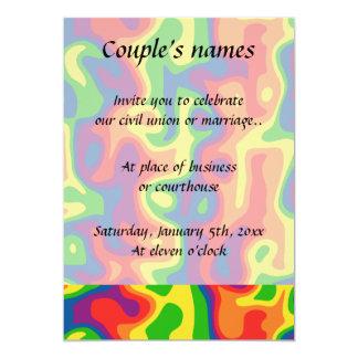 Cartão Casamento psicadélico do arco-íris