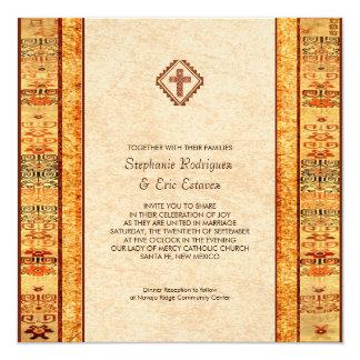 Cartão Casamento quadrado transversal cristão da festa