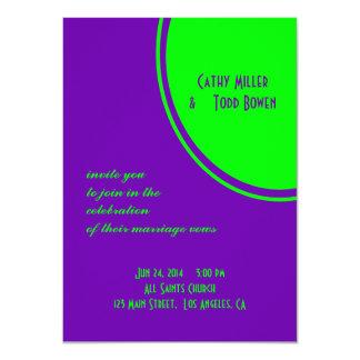 Cartão casamento roxo brilhante do círculo da modificação
