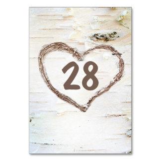 Cartão Casamento rústico cinzelado do coração do latido