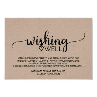 Cartão Casamento rústico da caligrafia de Kraft que