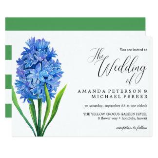 Cartão Casamento rústico do Hydrangea azul na moda da