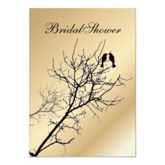 Cartão casamento rústico do país dos pássaros modernos do