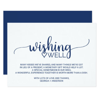 Cartão Casamento simples da caligrafia dos azuis marinhos