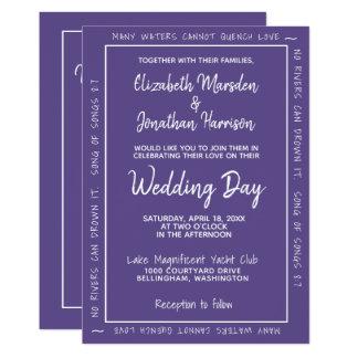 Cartão Casamento simples indicado por letras da mão
