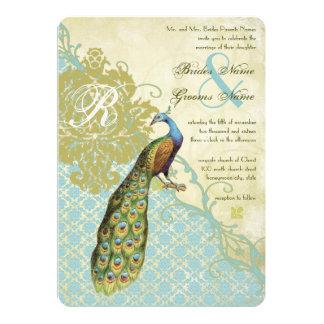 Cartão Casamento tema damasco da endívia da lagoa dos