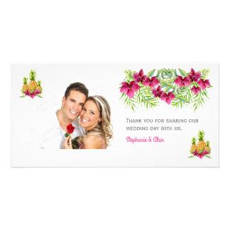 Cartão Casamento tropical das samambaias das orquídeas