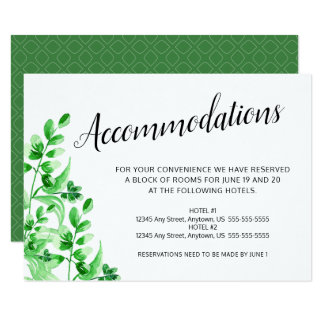 Cartão Casamento verde da caligrafia da folha | da