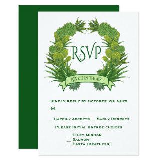 Cartão Casamento verde do sudoeste dos Succulents & do